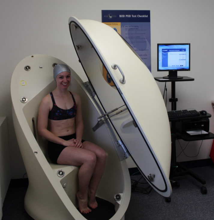 An example of Bod Pod test.
