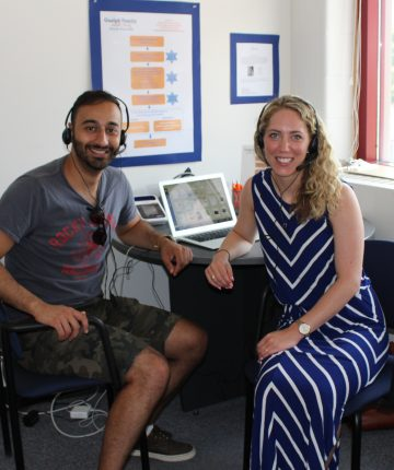 Healthy Habits, Happy Homes podcast hosts Kathryn Walton and Elie Chamoun
