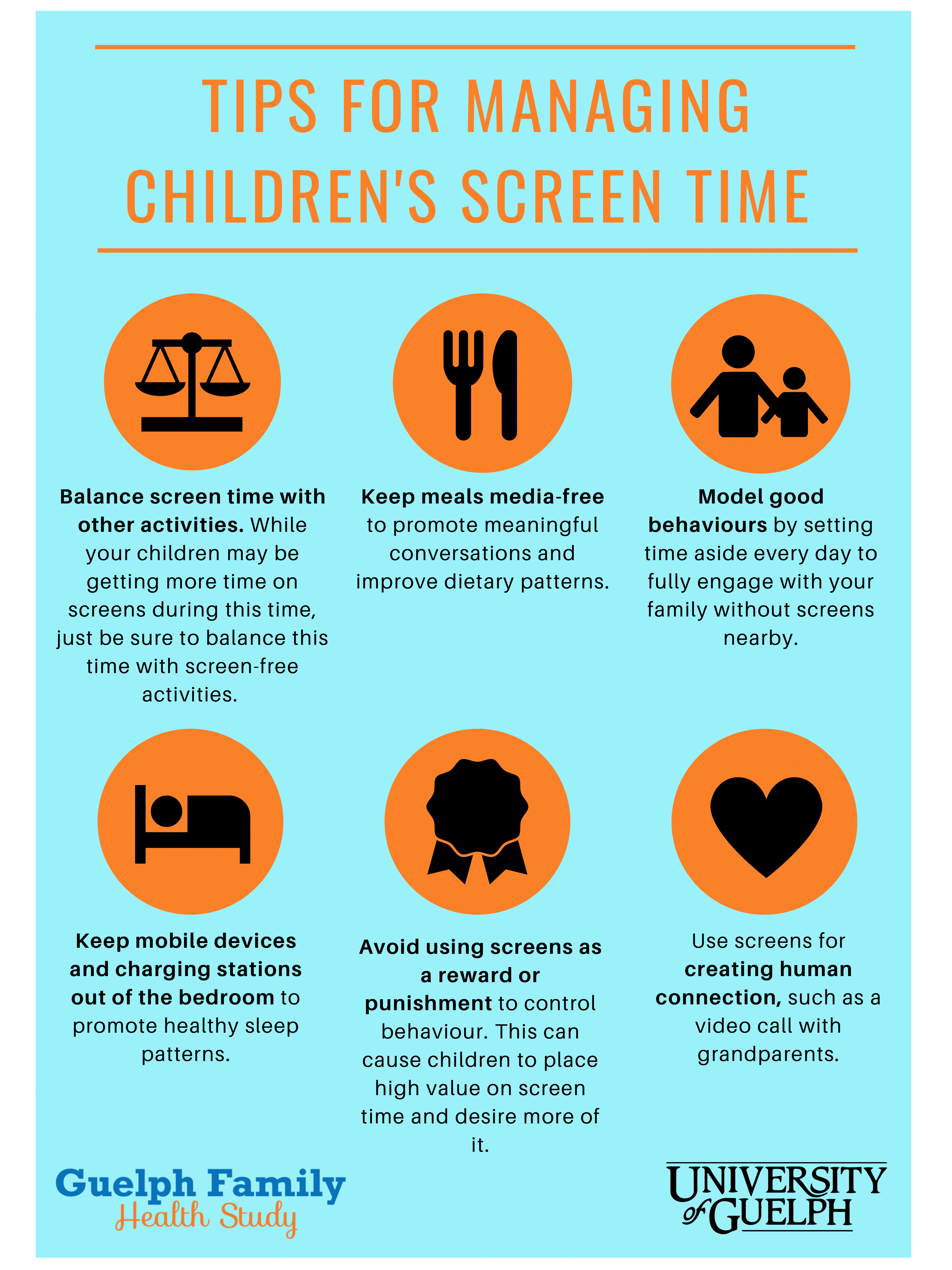 Tips for managing children's screen time